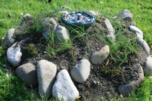 Herb Spiral and Bee Waterer