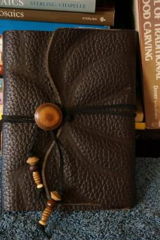 Hand-made leather journal