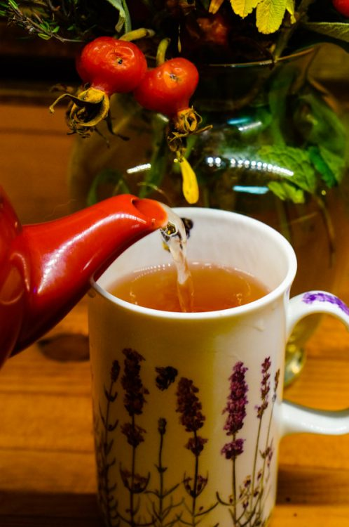 a cup of herbal tea