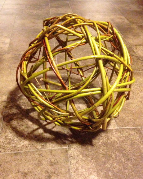 Hand-woven willow ball.