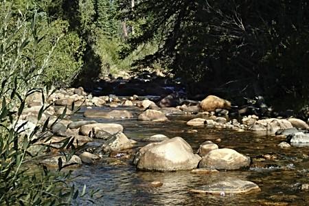 Stream near camp
