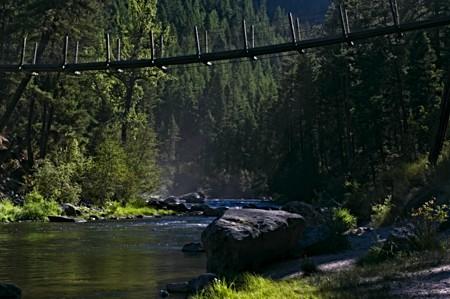 Suspension Bridge over creek_MT