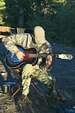 Guitar in camp