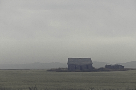 Old Homestead in a smoky haze