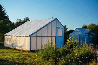 Solexx-coverered greenhouse