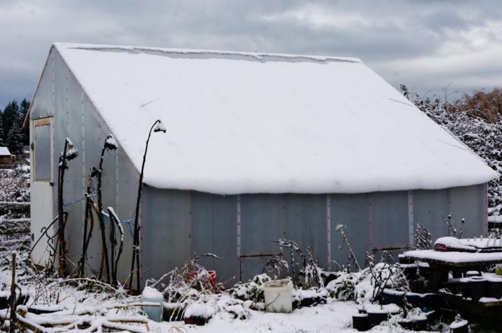 Snow on Solexx Greenhouse