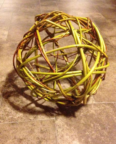 Hand-woven willow ball.